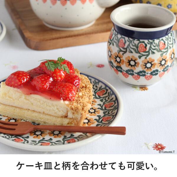 ケーキ皿と柄を合わせても可愛い。
