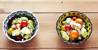 アボカドとツナのサラダ/ポーリッシュポタリー