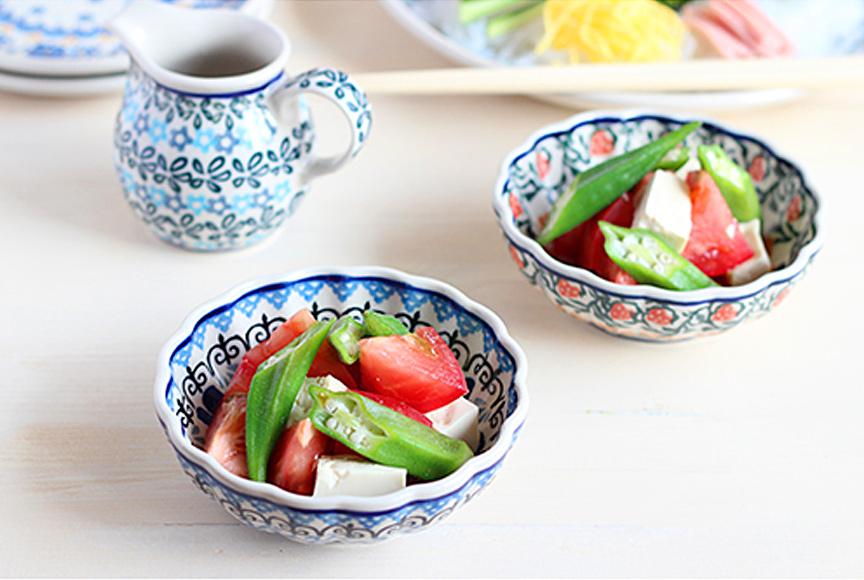 オクラとトマトの中華風サラダ