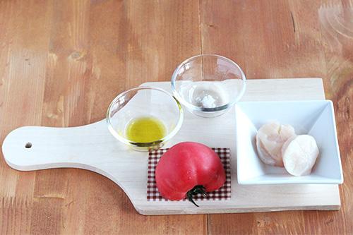 ホタテの簡単トマトソース添え/ポーリッシュポタリー