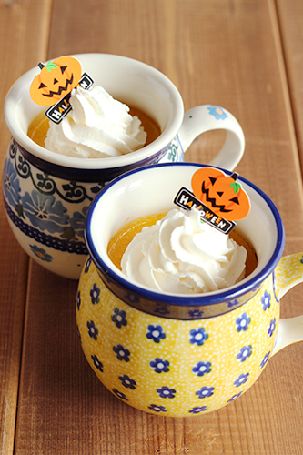 マグカップ0.25Lでかぼちゃプリン