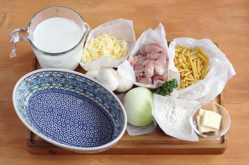オーブンディッシュでマカロニグラタン/ポーリッシュポタリー