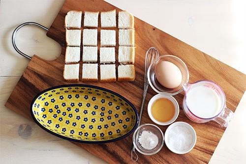 フレンチトーストはちみつ入りの材料/ポーリッシュポタリー