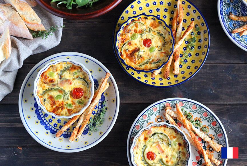 ハーブが香る夏野菜のキッシュ