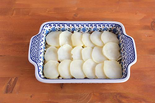 ジャガイモのミルフィーユ焼き/ポーリッシュポタリー