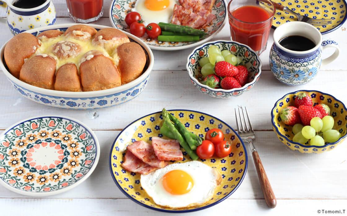 休日の朝食。
